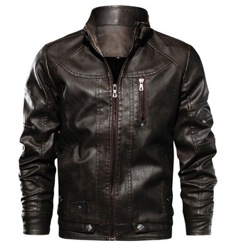 Mens Leather Jackets Drop shippingHigh Quality Motorcycle Jacket Male Plus faux leather jacket men 2019 spring men clothes