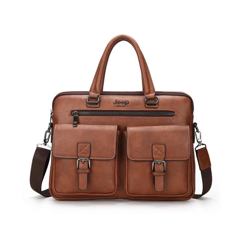 Men's briefcase business fashion messenger handbag high-quality leather document bag computer bag work bag large bag for men
