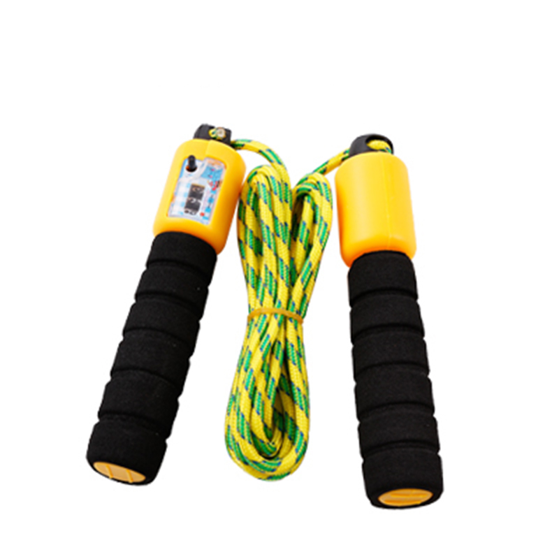 Jump Counter Foam Sponge Handle Automatic Adjustable Skipping Rope Jumping Exercise Fitness Training Gym Sports Random Colors