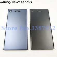 New Metal Battery Housing Door For Sony Xperia XZ1 G8341 G8342 Back Cover Case Battery Door Back Cover Frame With Logo
