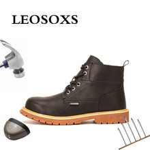 Men's Shoes Industrial-Shoes Work-Boots Steel-Toe Safety Security Portable LEOSOXS Wear-Resisting