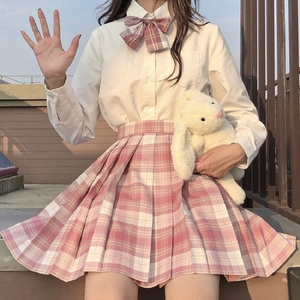 Women Pleat Skirt XS-2XL Harajuku Preppy Style High Waist Plaid Skirts Mini Japanese School Uniforms Ladies A-line Kawaii Skirt