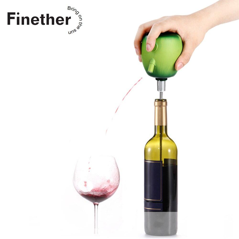 Finether Électrique Verseur À Vin Cidre Décanteur Pompe Apple Conception De Qualité Alimentaire En Acier Inoxydable Ventouse Vin Verser Accessoires