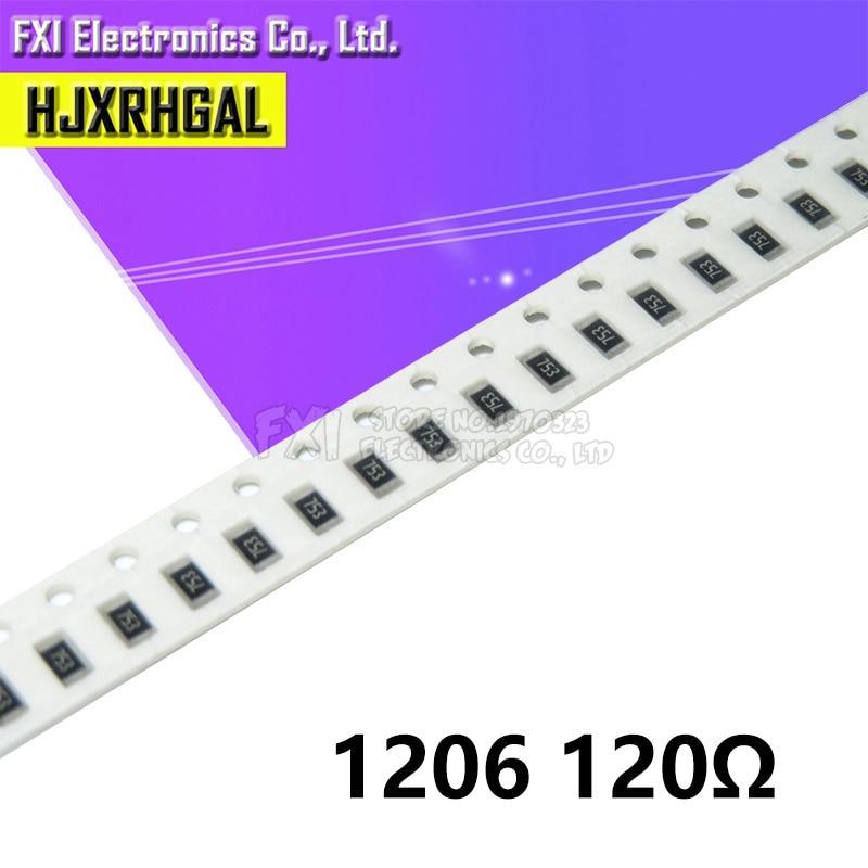 100PCS 1206 SMD Resistor  120 Ohm Chip Resistor 0.25W 1/4W 120R 121 New Original