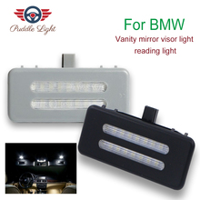 2X LED vanity mirror lamp For BMW E60 E61 E90 E91 E92 E70 E71E72 X1 X2 X3 X5 X6 E84 F25 E70 E71 E72 Led reading lights bulbs цены