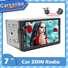2 DIn 7 Inch Car Radio Android Touch Screen Stereo Multimedia Player SD USB AUX Mirror Link MP3 MP5 Bluetooth FM TF With Camera