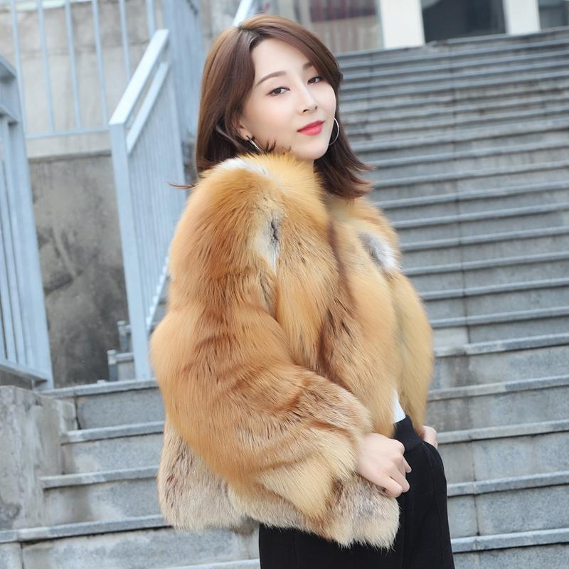 Fashion Fur Red Fox Silver Fox Whole Skin Does Not Hole Fashion Women's Short Korean Version Of The Small Coat Woman's Coat