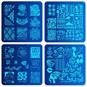 Biutee 30pcs/Set Nail Art Stamping Plates Set Geometric Flowers Multi-pattern Nail Plates Stamp Art Decoration Nail Accessories 5