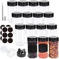 Gewürz Container Food Grade Material Spice Organizer Kanister Set Küche Salz und Pfeffer Shaker 230ML 15/20 stücke