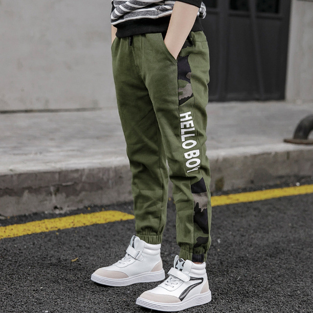 New Pants for Boys Spliced Beam Foot Trousers Cotton Casual Sports Pants Clothes for Teen Kids Boys pants Spring clothes 5