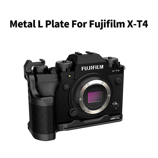 UURig L لوحة للكاميرا FUJIFILM X T4 تمديد الباردة الحذاء جبل قوس Vlog مقبض L لوحة Fujifilm XT4 كاميرا الملحقات
