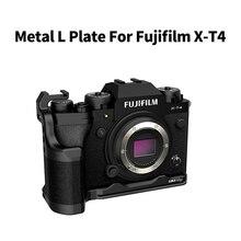 Uurig l placa para fujifilm X T4 câmera estender sapato frio suporte de montagem vlog alça l placa fujifilm xt4 acessórios da câmera