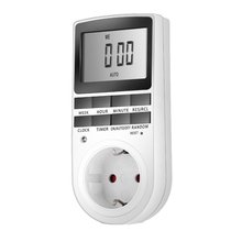 Digital LCD 230V Timer Switch Socket Outlet Plug-in 7 Day 12/24 Hour Programmable Time Control for Kitchen Electric Appliance