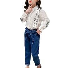 Комплекты для маленьких девочек одежда подростков блузка топ