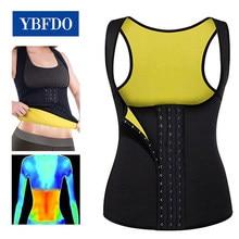 Ybfdo mulheres quente suor neoprene sauna colete para perda de peso barriga queimador de gordura emagrecimento shapewear quente thermo corpo shaper suor superior