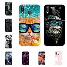 For Samsung Galaxy M20 Case Soft TPU Silicone SM-M205F Cover Scenery Pattern Coque