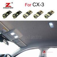 9 adet hata ücretsiz LED plaka lambası + iç kubbe ayna aydınlatma kiti Mazda CX-3 CX3 Touring (2015 +)