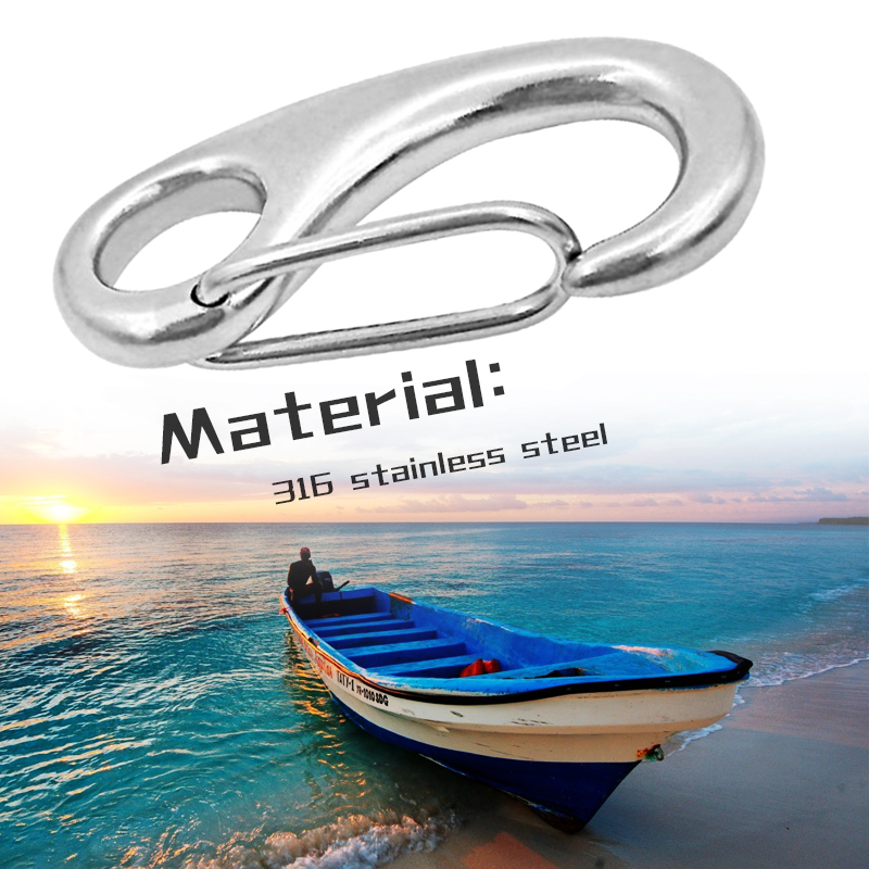 Marine Egg Shape Spring Snap Hook Anchor Rigging Clip Quick Link Buckle Stainless Steel For Yacht Outdoor Etc Boat Accessories