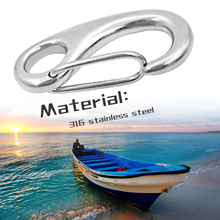 Marine Egg Shape Spring Snap Hook Anchor Rigging Clip Quick Link Buckle Stainless Steel For Yacht Outdoor Etc Boat Accessories stylish boat anchor shape tie clip