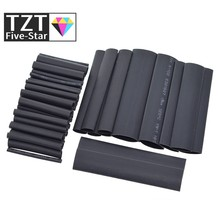 TZT 127 pièces/ensemble assortiment thermorétractable Tube noir fil enroulé isolation électrique câble gainer 2-13mm