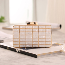 Boutique fashion crystal  women clutch wedding black acrylic banquet tote bag messenger handbag purse