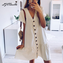 Женские платья, мини-рубашки, платья с коротким рукавом и поясом, пуговицы, v-образный вырез, платья в винтажном стиле, весеннее женское платье vestidos