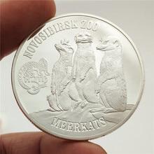 Australian Silver Coin 999.9 Meerkats Style Cute Animal Metal Coins Art Crafts Commemorative Elizabeth Gift