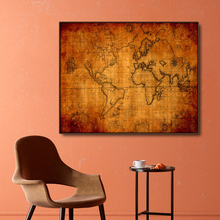 Ancient Map of Middle Earth Move Poster Canvas Painting Calligraphy Wall Pictures For Bedroom Living Room Vintage Home Decor