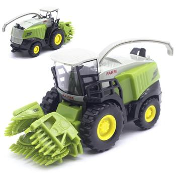Mini 1/43 Agricultural Harvester Model Children Kids Alloy Car Toy Birthday Gift image