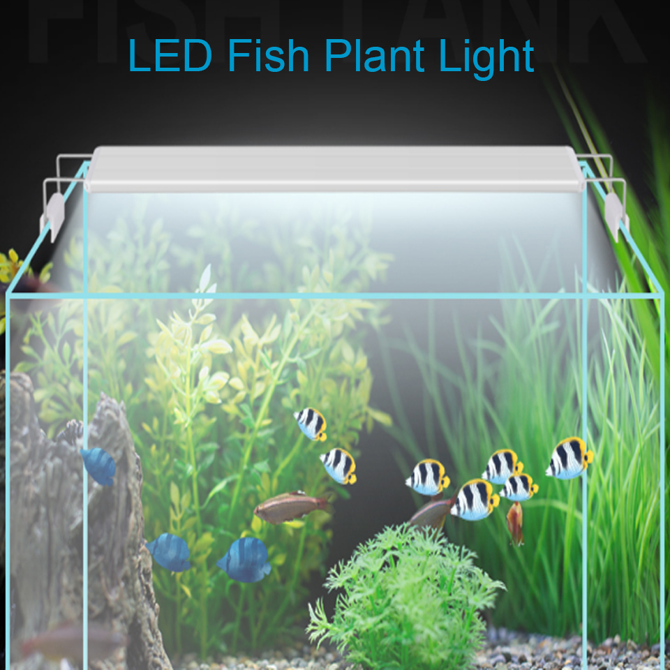 Super Slim LED Aquarium Lighting 5W-16W Aquatic Plant Lights With Extendable Waterproof Clip On Lamp For Fish Tank