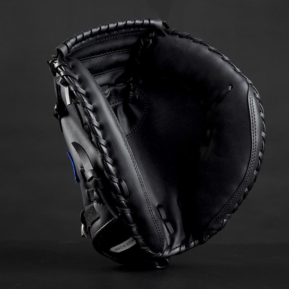 FDBRO Baseball Catcher Glove  Outdoor Sports Brown Black PVCSoftball Practice Equipment Size 12.5 Left Hand For Adult Training