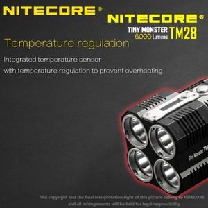 Image 4 - Светодиодный фонарик NITECORE TM28, 4 * CREE XHP35 HI, 655 лм, дальность луча 18650 м, с зарядным устройством, 4 шт. литий ионных аккумулятора 3100 мАч