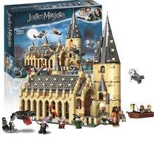 цена на 926pcs Compatible 75954 Harri Movie Magic Great Hall Castle Building Blocks Toys For Children Gifts Dropshipping