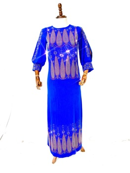 2021 High Quantity  New African Design Bazin Diamond Long Sleeve Dashiki Dress For Lady(CPZ2)