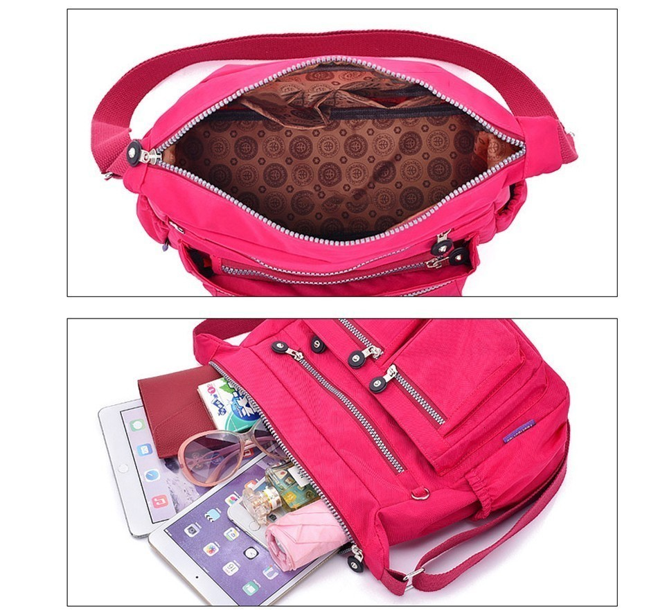 H751455a960e74d83b15b197523293ebae - Ladies Fashion Shoulder Bags for Women  Waterproof Nylon Handbag Zipper Purses Messenger Crossbody Bag sac a main