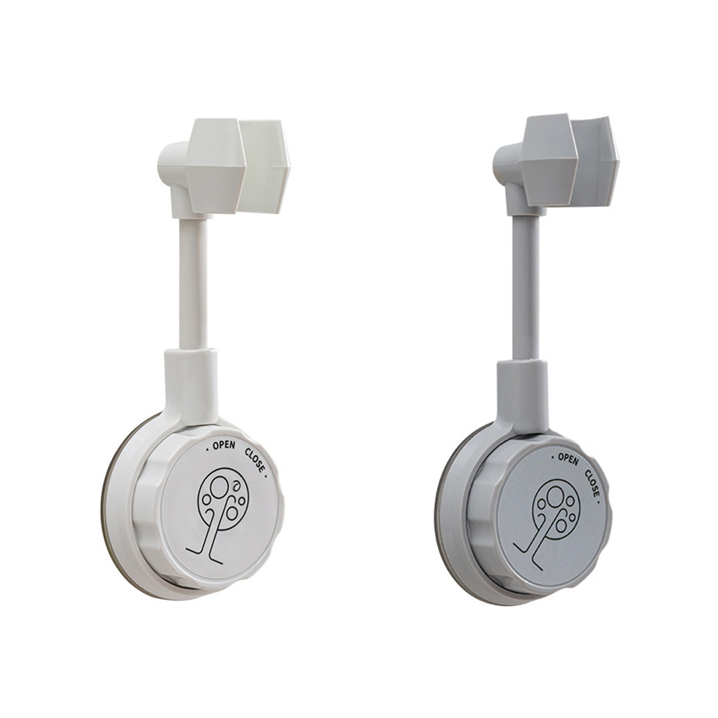 Suction Cup Shower Holder Adjustable Shower Head Holder Universal Bathroom Bracket Nozzle Base Stand Punch-Free 360°Rotation 1pc