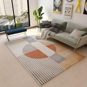 Nordic Simple Carpet Living Room Sofa Coffee Table Blanket Bedside Bed Mat Floor Bedroom Slip Rug Kids Playing Print Mat(China)