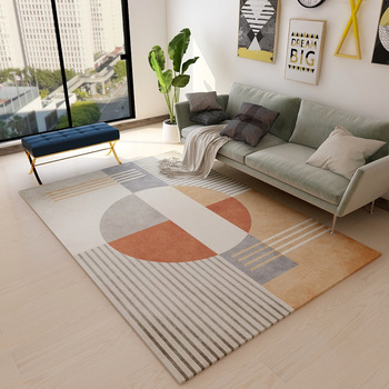Nordic Simple Carpet Living Room Sofa Coffee Table Blanket Bedside Bed Mat Floor Bedroom Slip Rug Kids Playing Print Mat fashion round carpet bedroom ins bedroom living room coffee table mat bedside carpet anti slip mat strong absorbent carpet