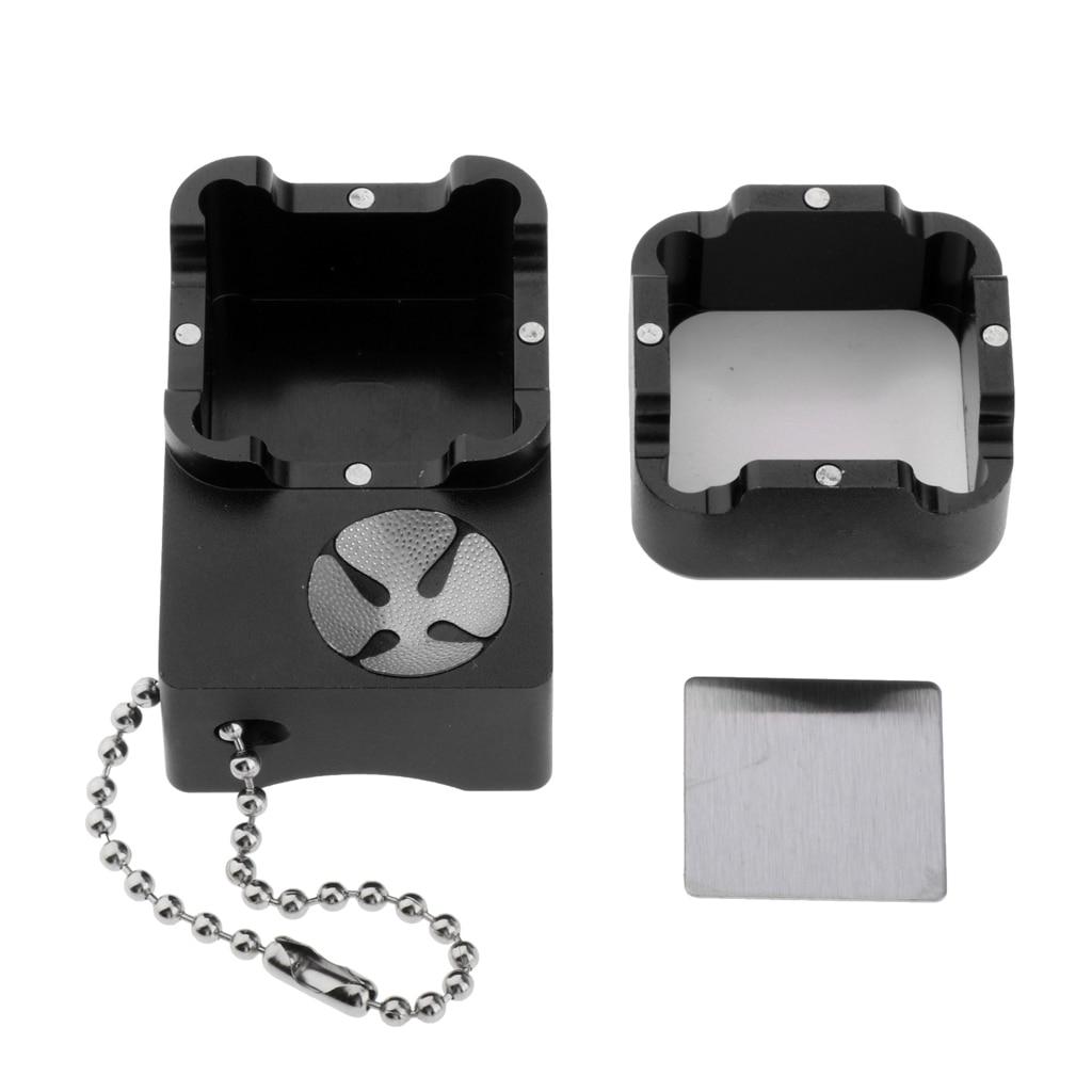 Billiard Cue Chalk Case Holder Chalks Carrier Box with Prod Scuffer Billiard Accessories Red Black