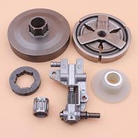 Roda dentada da embreagem rim tambor para chinês 4500 5200 5800 45cc 52cc 58cc bomba de óleo worm gear bearing kit motosserra|Motosserras|   -