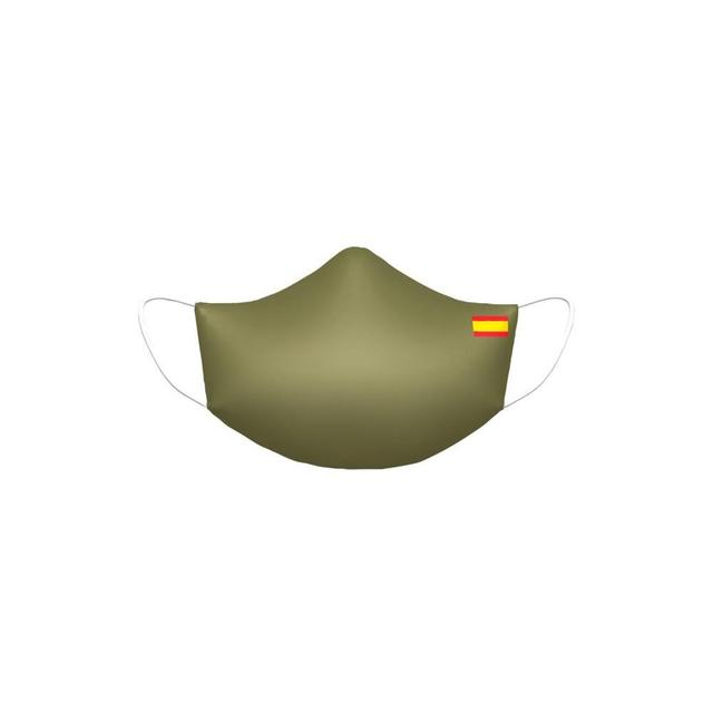 Mascara Flag Spain Green Miltar Higienica Masks fabric 25 washes Homologada standard EU manufactured in Spain Neoprene
