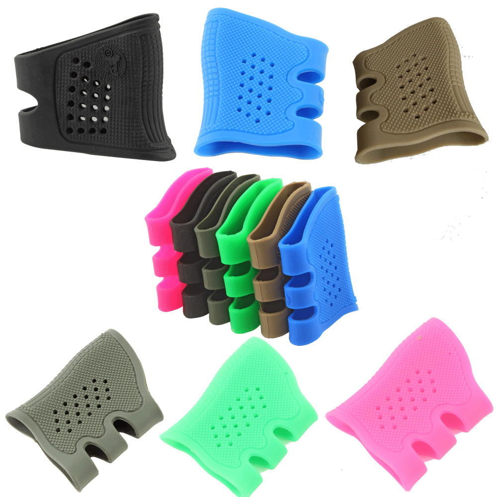 Tactifans Tactical Grip Glove Rubber Cover Fits Glock Sub Compact 26 27 28 29 30 33 39 Hunting Airsoft Skirmish Glove Covers