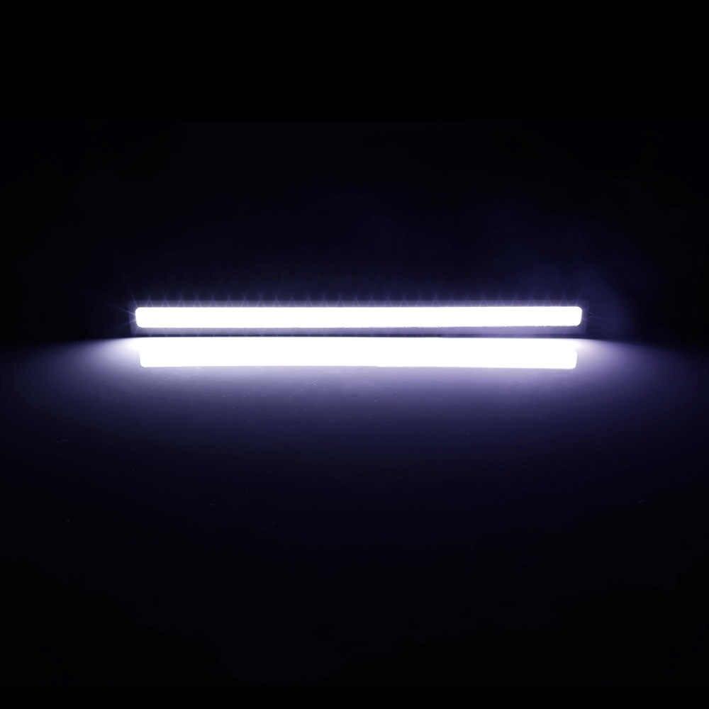1 قطعة تصفيف السيارة فائقة مشرق 12 واط LED النهار تشغيل أضواء تيار مستمر 12 فولت 17 سنتيمتر مقاوم للماء السيارات سيارة DRL COB القيادة الضباب مصباح DRL