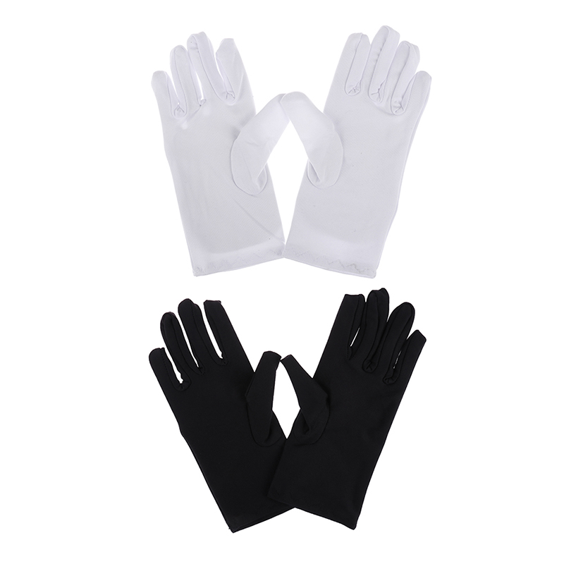 1Pair Cotton Gloves Khan Cloth Quality Check Solid Gloves Rituals Play White Gloves