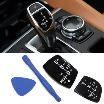 Car Shift Knob Cover Panel Gear Button Emblem M Performance Sticker Fit for BMW X1 X3 X5 X6 M3 M5 F01 F10 F30 F35 F15 F16 F18 image