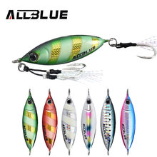 ALLBLUE New S-BENT Slow Jig Metal Casting Spoon 40G 60G Artificial Bait Off Shore Lead Cast Jigging Fishing Tackle(China)