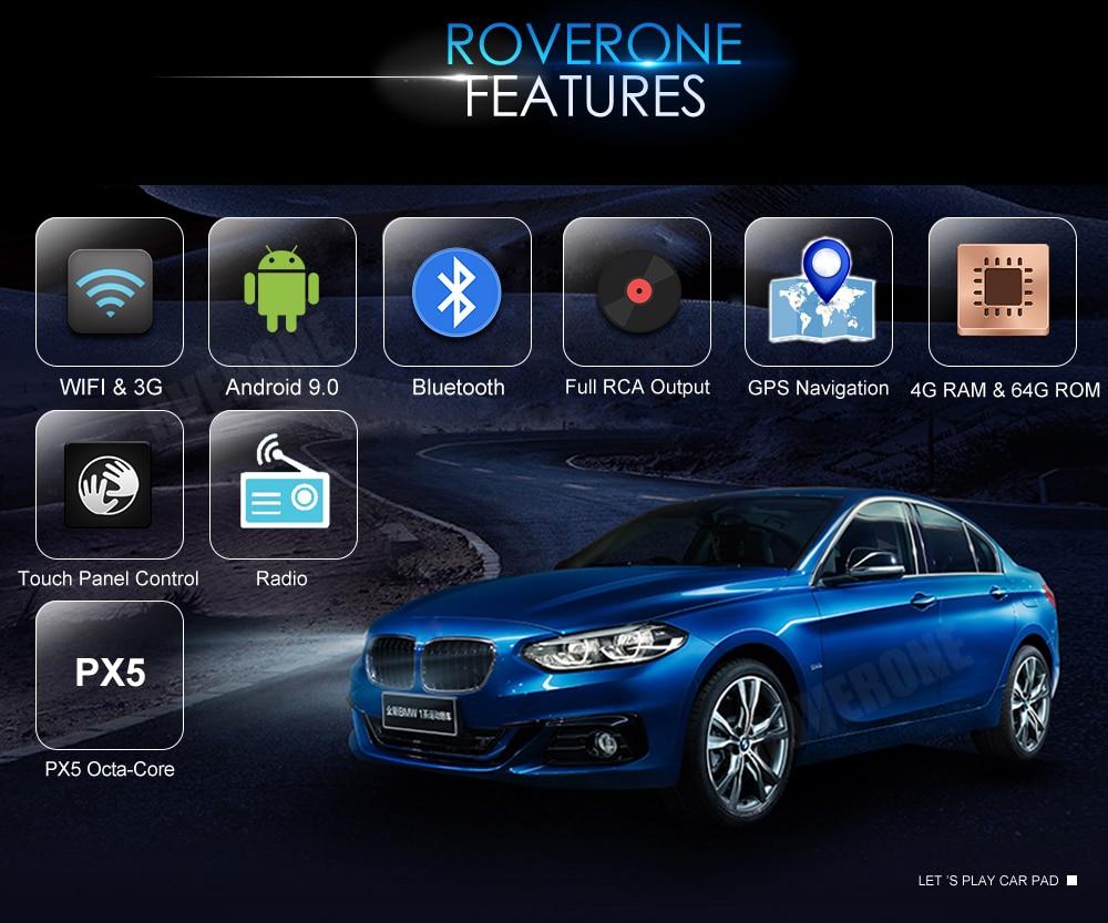 Best RoverOne Car Multimedia Player For Fiat Fiorino Qubo For Citroen Nemo For Peugeot Bipper Android 9.0 Octa Core Radio Navigation 12