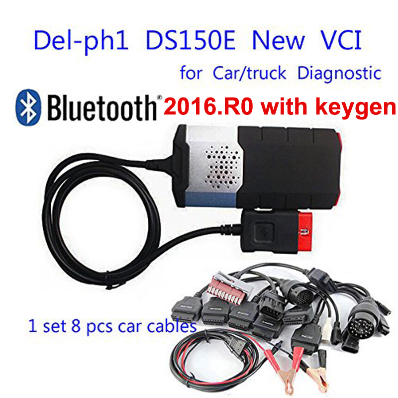 New Vci For Tcs Cdp Pro Plus For Delphis Ds150e 2019 Usb Bluetooth Obd Obd2 Scanner 2016R0 Keygen Cars Diagnostic Tool