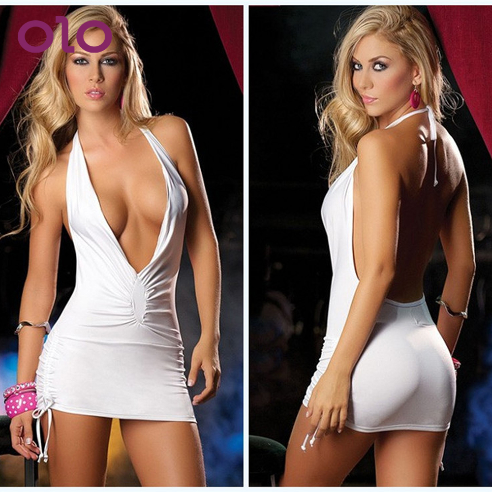 OLO Female Temptation Dress Erotic Underwear Babydoll  Porn Costumes Backless Sexy Sleepwear Women Sexy Lingerie