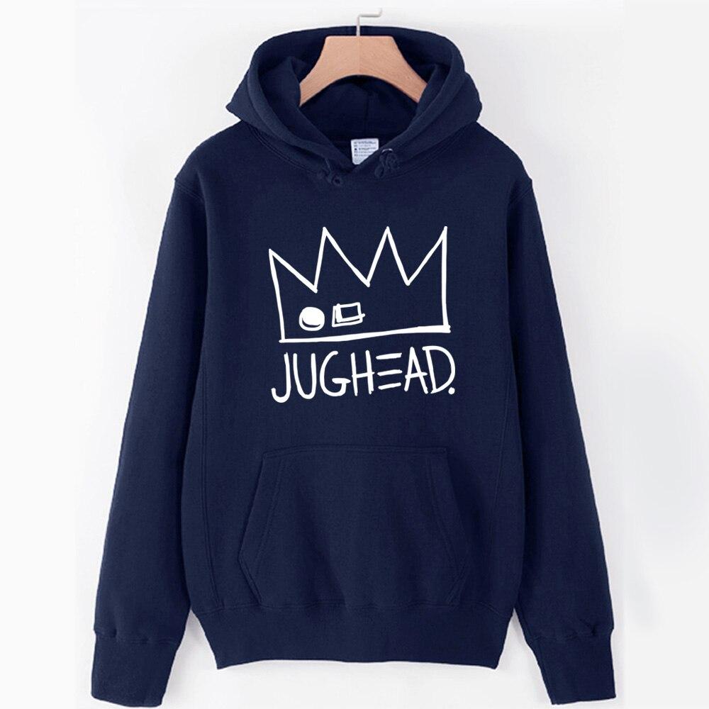 Jughead Jones Crown South Side Serpents Riverdale Girl Woman Hoodie Autumn Winter Fleece Couple Clothes ZIIART 11